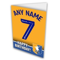 Greeting Card  Name & Number