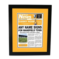 Framed Print Newspaper