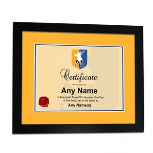 Framed Print Fathers Day Certificate