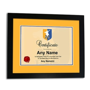 Framed Print Mothers Day Certificate