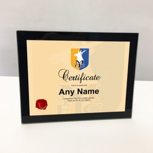 Glass Photo Frame- Certificate