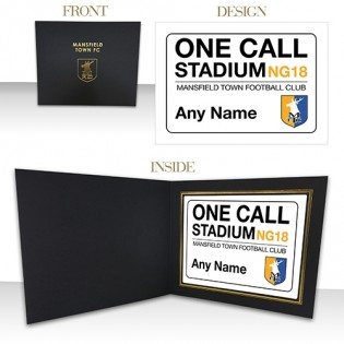 Photo Folder Print One Call Stadium Sign