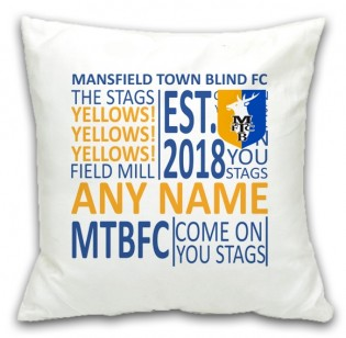 MTFC Blind Personalised Cushion-Text
