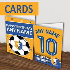 Mansfield Town FC Official Personalised Greeting Cards