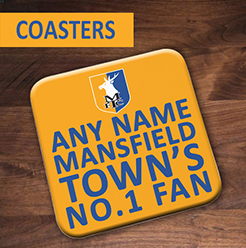 Mansfield Town FC Official Personalised Coasters