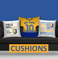 Mansfield Town FC Official Personalised Cushions