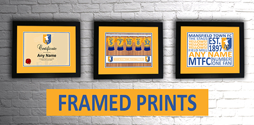 Mansfield Town FC Official Personalised Framed Prints