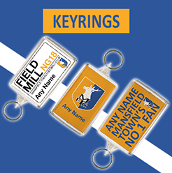 Mansfield Town FC Official Personalised Keyrings
