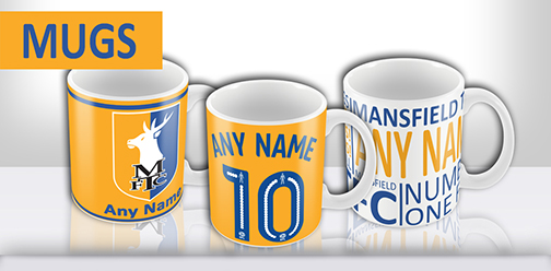 Mansfield Town FC Official Personalised Mugs