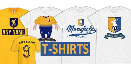 Mansfield Town FC Official Personalised T-Shirts