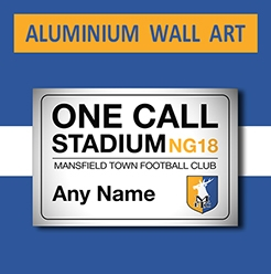 Mansfield Town FC Official Personalised Wall Art