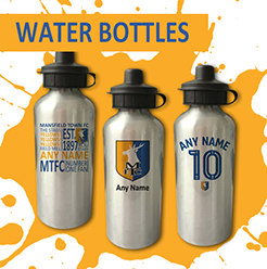Mansfield Town FC Official Personalised Water Bottles